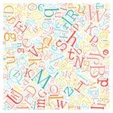 Creative english alphabet texture background Royalty Free Stock Photography