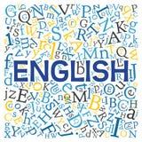 Creative english alphabet texture background stock illustration