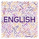 Creative english alphabet texture background royalty free illustration