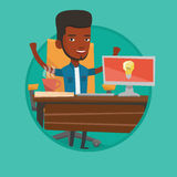 Creative excited businessman having business idea. Royalty Free Stock Photography