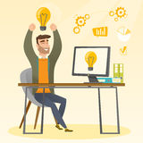 Creative excited businessman having business idea. Royalty Free Stock Images
