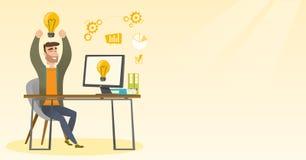 Creative excited businessman having business idea. Stock Image
