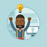 Creative excited man having business idea. Royalty Free Stock Image
