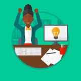Creative excited woman having business idea. Stock Images