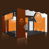 Creative exhibition stand design. Booth template. Corporate identity vector Royalty Free Stock Photos