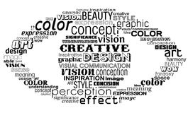 Creative eye. Eye making in typography style Royalty Free Stock Photos