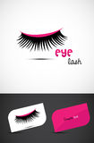 Creative Eye lash Icon Stock Image