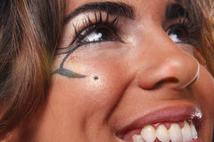 Creative eye makeup Royalty Free Stock Image