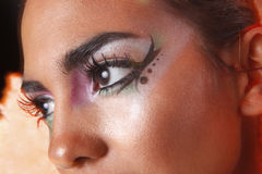 Creative eye makeup Royalty Free Stock Photos