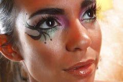 Creative eye makeup Stock Images
