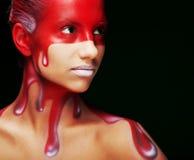 Creative face-art Stock Photography