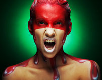 Creative face-art Royalty Free Stock Photos