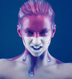 Creative face-art Royalty Free Stock Image