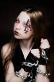 Creative face paint stock photo
