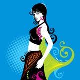 Creative fashion beautiful women,with style Stock Image
