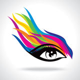 Creative fashion eye with colours Royalty Free Stock Photos