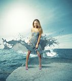 Creative fashion girl Royalty Free Stock Image