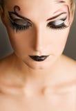 Creative fashion make-up stock photography