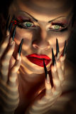 Creative fashion makeup and manicure Stock Photography