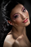 Creative fashion makeup Stock Image