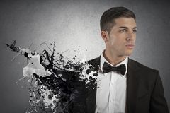 Creative fashion man. Concept of creative fashion with elegant man Royalty Free Stock Image