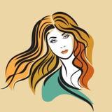 Creative fashion portrait of beautiful woman Royalty Free Stock Photography