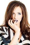 Creative Fashion Woman. Makeup and Hairdo Royalty Free Stock Photos