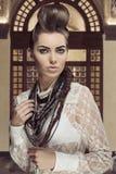 Creative fashion woman Royalty Free Stock Image