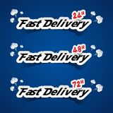 Creative Fast Delivery Banners Stock Photography