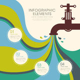 Creative faucet infographics design Stock Photography