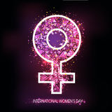 Creative Female Symbol for International Women's Day. Royalty Free Stock Image