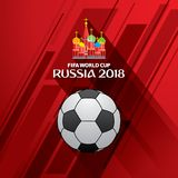FIFA world cup 2018 poster. Creative FIFA world cup 2018 greeting or poster design Stock Image