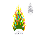 Creative fire flame logo design concept Royalty Free Stock Photos