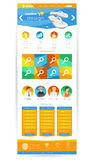 Creative flat colourful web site page elements design Stock Photo