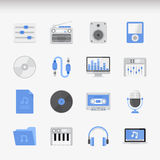 Creative Flat  icon set Royalty Free Stock Images