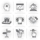 Creative Flat line icon set. Flat Line Icons Set. Business and Finance,Business Agreements, Mobile Banking, Success.Isolated Objects in a Modern Style for Your Stock Photos