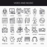 Creative Flat line icon set Stock Images