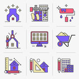 Creative Flat line icon set Royalty Free Stock Image