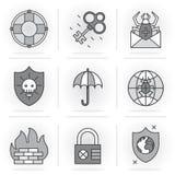 Creative Flat line icon set Royalty Free Stock Photos