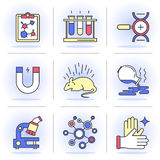 Creative Flat line ikon set Stock Photo