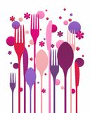 Creative flatware Royalty Free Stock Images