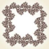 Creative flora frame. Design Stock Photo