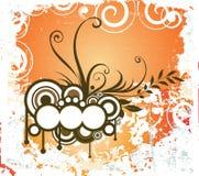 Creative floral design with grunge Stock Photos
