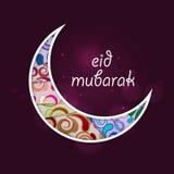 Creative floral moon for Eid festival celebration. Royalty Free Stock Photos