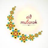 Creative floral moon for Eid festival celebration. Stock Photo