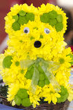 Creative flower arrangement. At the Bookfest book fair 2014. Bookfest is a annual festival of books held in Bucharest Stock Photography