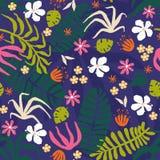 Creative flower seamless pattern Royalty Free Stock Image