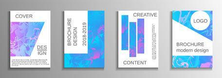 Creative fluid backgrounds from current forms. Modern design template. Creative fluid backgrounds from current forms to design a fashionable abstract cover Stock Illustration