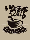 Creative Fluid Coffee Royalty Free Stock Image