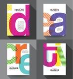 Creative Flyer design template Royalty Free Stock Photos